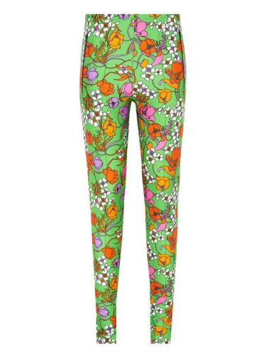 Balenciaga floral print leggings as seen on Rihanna DJ Khaled Wild Thoughts music video